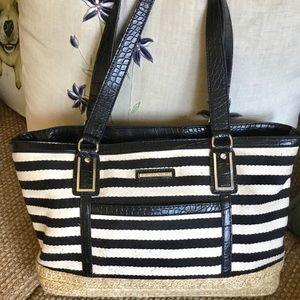 Dana Bachman Spectator Black White Stripe Bag